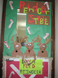 Cubicle Decorating Contest Ideas Decorative Door Ideas Christmas Office Reindeer Stable To Decorate