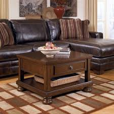 furniture modern brown leather tufted square coffee table with Pictures Of Coffee Tables In Living Rooms