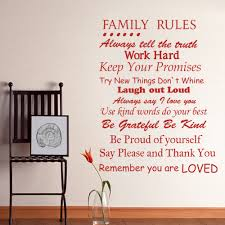 Quote Garden Family Aliexpress Com Buy Family Rules Remember You Are Loved Family