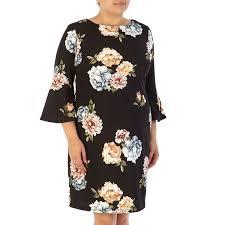sleeve dress plus size floral print bell sleeve dress 277322258