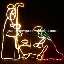 Outdoor Christmas Rope Light Decorations by 110cm High Nativity Scene Outdoor Christmas Decorations Rope