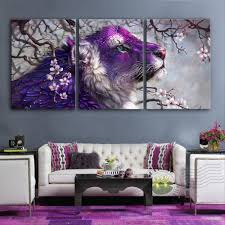 Home Decor Paintings by Sale Modern Wall Paintings Purple Animal Decoration Painting