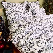 tattoo bedding queen black white bedding and decor by sin in linen