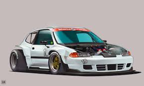 Eg Snap Art Mid Engine Eg Civic Concept Front Engine Bay Has