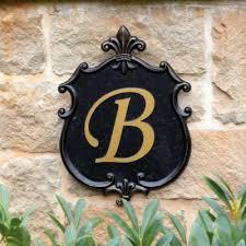 outdoor monogram plaque european inspired home decor ballard