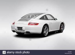 porsche 911 targa white 2008 porsche 911 targa 4s in white rear angle view stock photo