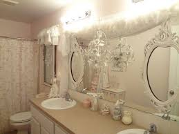 Shabby Chic Bathroom Lighting Pretty Shabby Chic Bathroom With Wainscoting And Pink Walls
