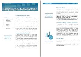ms word employee newsletter template formal word templates
