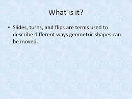4th grade math lesson slides turns u0026 flips