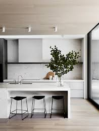 Modern Kitchen Sleek Kitchen Minimal Kitchen Black And White