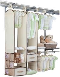 Hanging Closet Shelves by Hanging Closet Organizer For Baby 2 Roselawnlutheran