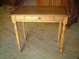 tables bureau anciennes en hêtre pieds tournés antiquites