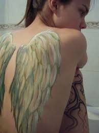 wing tattoos on back white wings tattoo on back for girls tattoos book