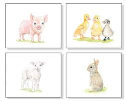 Farm Animal Nursery Decor Safari Nursery Decor Nursery Wall Nursery Nursery
