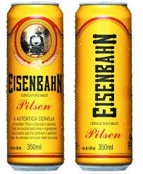 Fabuloso Brasil Kirin leva cerveja Eisenbahn para lata sleek de 350  @VB77