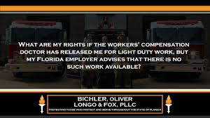 what is light duty work what are my rights if the workers compensation doctor has released