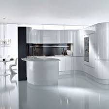 Mdf Kitchen Cabinet Designs - china bck european style simple white arc gloss mdf paint kitchen