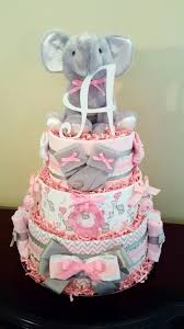 cake ideas for girl pink and gray baby girl elephant cake just precious baby
