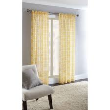 Sunflower Yellow Curtains by Decor Impressive Extra Walmart Curtain Rod With Gorgeous Steel