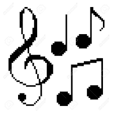 illustration pixel music notes royalty free cliparts vectors and