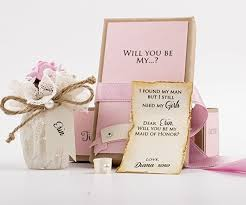 will you be my of honor gift will you be my bridesmaid gift message in a bottle