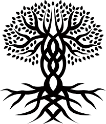 celtic tree of engraving large