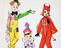 1960s Halloween Costume Kids Costume Pattern Etsy