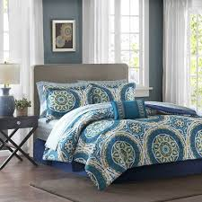 43 Best Bed In A by Madison Park Essentials Odisha Blue Complete Comforter And Cotton