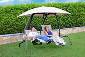 swing table for recliner amazon com sunset swings 422 l dual recliner newest 2016 model