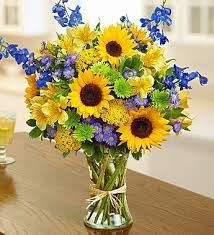 sunflower arrangements cheerful sunflower arrangement mebane nc florist gallery florist