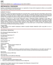 Sample Resume Mechanic by Mechanical Engineer Professional Resume Samples