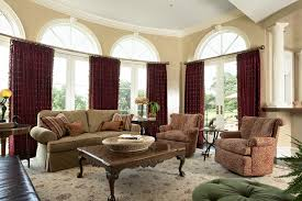 Burgundy Curtains For Living Room Bearpath Remodel Traditional Family Room Minneapolis By Mint