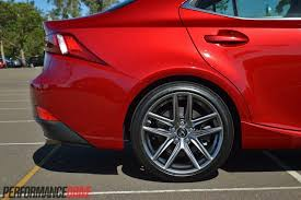 red lexus is 350 2014 lexus is 350 f sport review video performancedrive