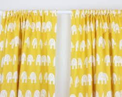 Yellow Nursery Curtains Elephant Nursery Curtain Panels Elephant Drapes Elephant