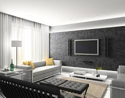 Black Living Room by Feature Wall With Tv Living Room Decorating Ideas Feature Wall