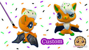 diy littlest pet shop custom cupcake halloween inspired lps bat