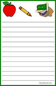 printable lined paper grade 2 school theme notepad diseños escolares marcos etiquetas clipart