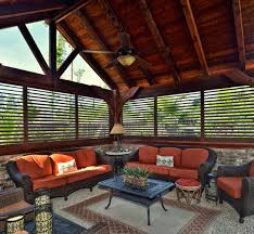 Outdoor Enclosed Rooms - aluminum outdoor shutters u2013 blind and shutter guys