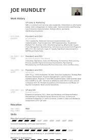 Sales And Marketing Resume Vp Sales U0026 Marketing Resume Samples Visualcv Resume Samples Database