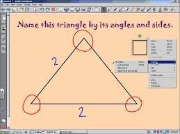 video walkthrough classifying triangles by angles and sides youtube