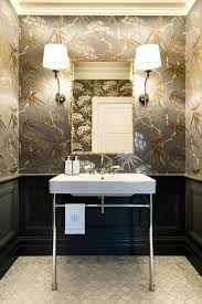 dressing room wallpaper ideas powder room traditional with