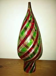 new vintage murano italian glass swirled green gold