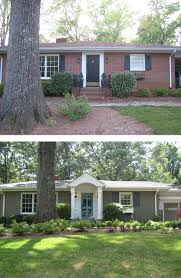 before u0026 after painted brick ranch style home brick sherwin