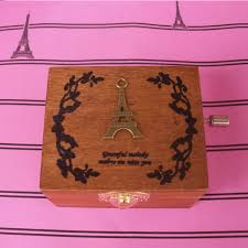 music decorations for home creative retro wooden handy music box series decoration for home