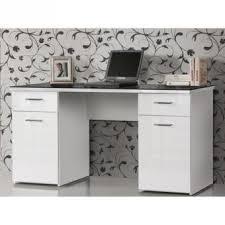bureau plateau en verre bureau plateau verre 145 cm blanc noir achat prix fnac