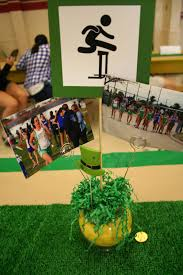 Football Banquet Centerpiece Ideas by Track Banquet Centerpiece Track Banquet Pinterest Banquet