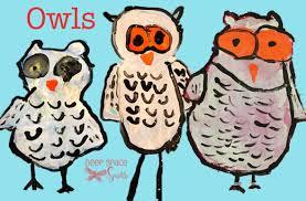 snowy owl art project deep space sparkle