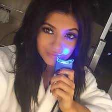teeth whitening kit with led light kylie hehe break on set about to use my teeth whitening kit from