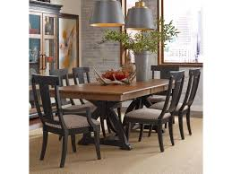 kincaid furniture stone ridge seven piece dining set with kincaid furniture stone ridge seven piece dining set with rectangular table and black painted chairs belfort furniture dining 7 or more piece sets