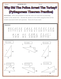 Thanksgiving Worksheets For 3rd Grade Pictures Pythagorean Theorem Puzzle Worksheet Dropwin